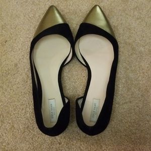 Black and Gold Cole Haan Flats